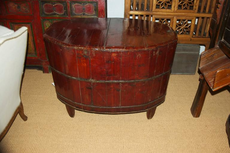 Lacquered 19th Century Chinese Grain Bin For Sale