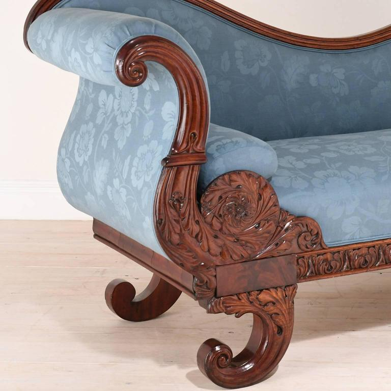 19th Century Empire Recamier Or Fainting Couch In Mahogany