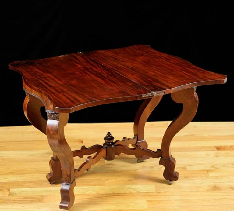 Polished American Game Table, Attributable to Meeks & Sons, NY, circa 1840 For Sale