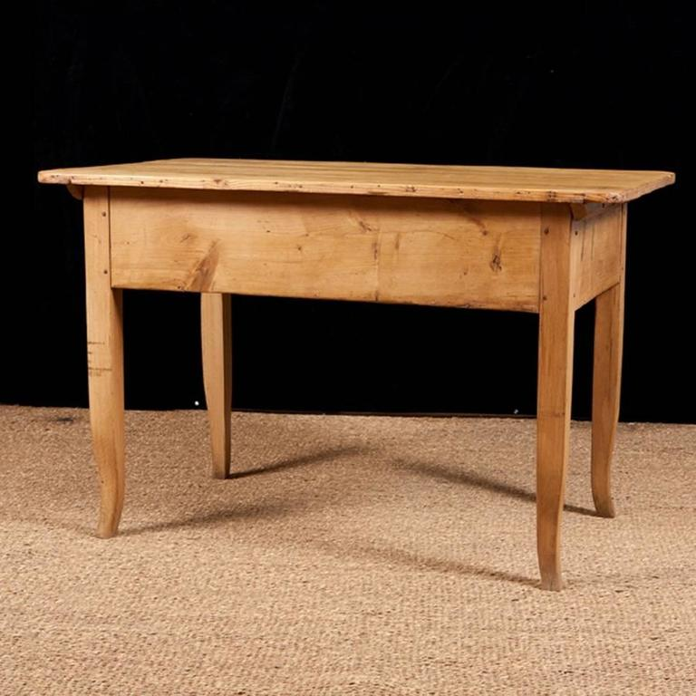 Early 19th Century Biedermeier Country Pine Work Table with Drawer, circa 1825 For Sale