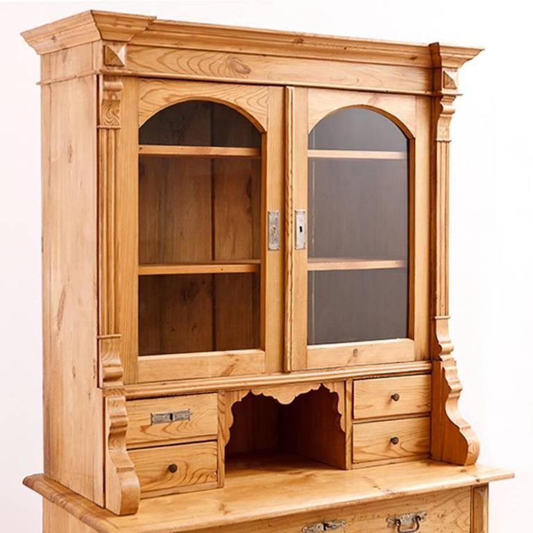 German Gründerzeit Hutch or Bookcase in Pine circa 1890