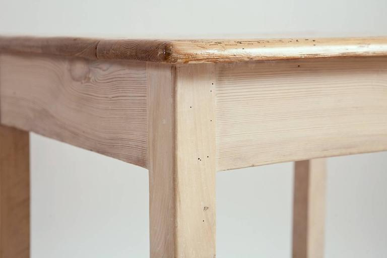 German Biedermeier Style Work Table in Pine, circa 1900 For Sale