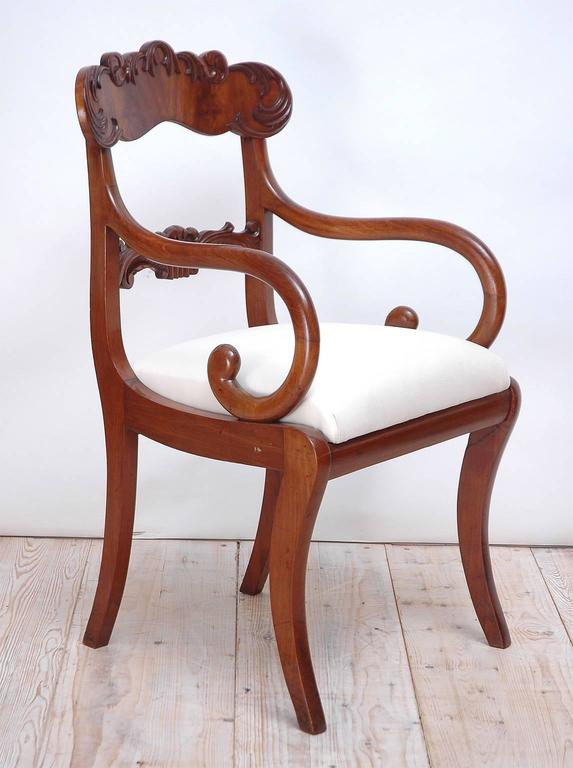 Set of 10 Karl Johan Swedish Dining Chairs In Excellent Condition For Sale In Miami, FL