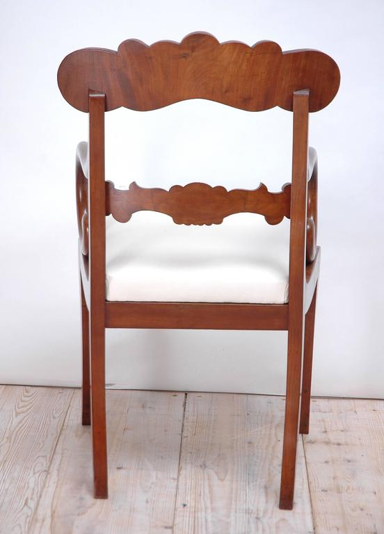 Upholstery Set of 10 Karl Johan Swedish Dining Chairs For Sale