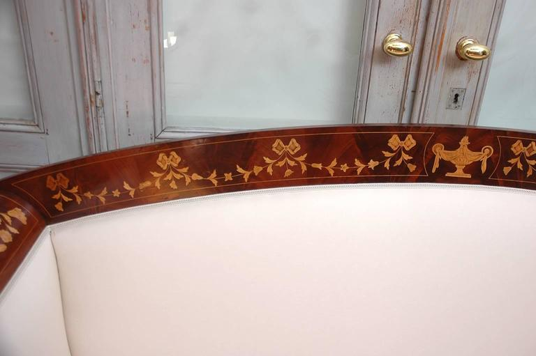Empire Marquetry Sofa in Mahogany with Satinwood Inlays, circa 1820 For Sale 1