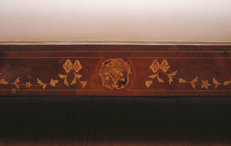 Empire Marquetry Sofa in Mahogany with Satinwood Inlays, circa 1820 For Sale 4