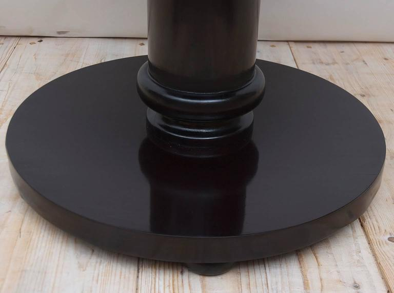 Bonnin Ashley Custom Made Art Deco Round Side Table with Ebonized Black Finish In New Condition For Sale In Miami, FL