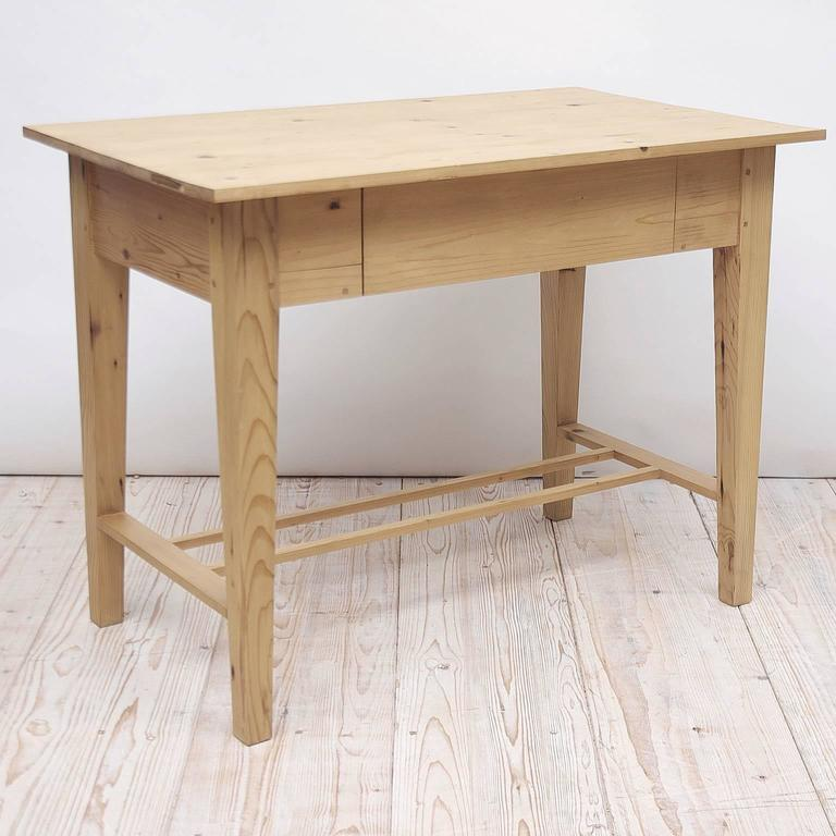 Custom Pine Writing Table or Desk in the Northern European Jugendstil Style 2