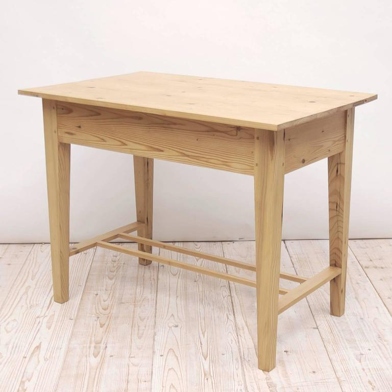Custom Pine Writing Table or Desk in the Northern European Jugendstil Style 4