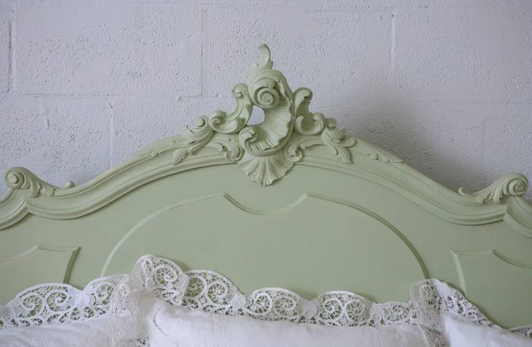 Antique French Louis XV Style Queen Bed from the Belle Époque Period 9