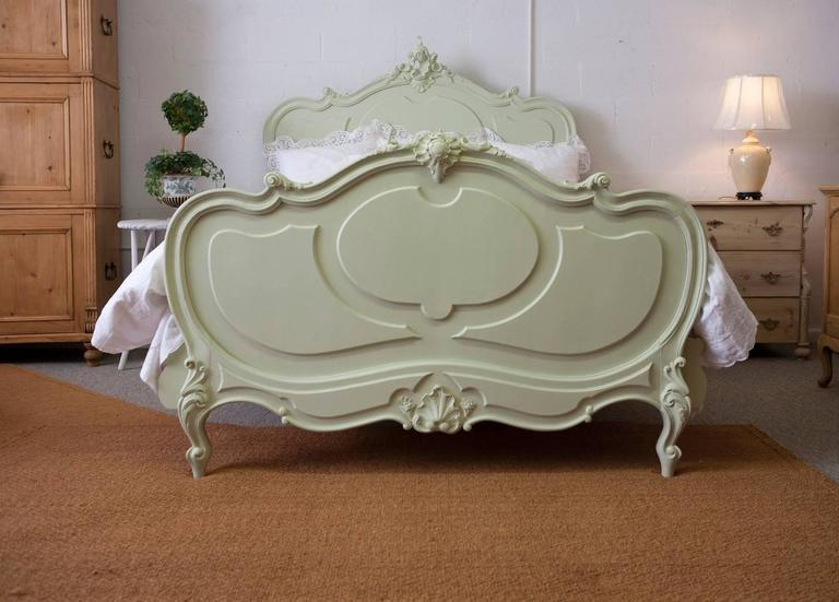 Antique French Louis XV Style Queen Bed from the Belle Époque Period 2