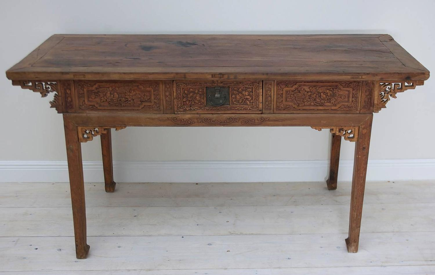 Genial Antique Chinese Altar Table With Fine Carvings For Sale At 1stdibs