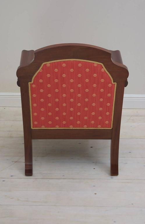 Pair of Danish Art Deco Club Chairs in Mahogany with Upholstery, circa 1920 For Sale 2
