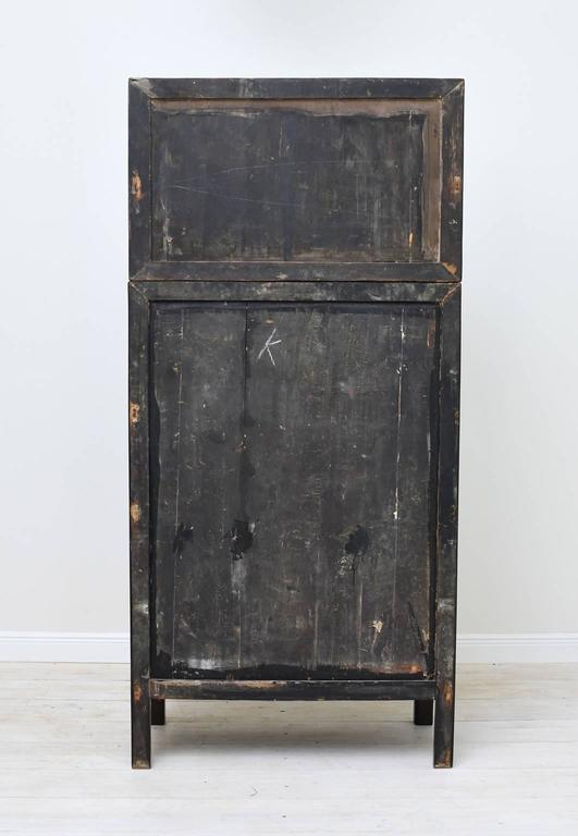 Pair Of Tall Chinese Qing Dynasty Cabinets With Four Doors