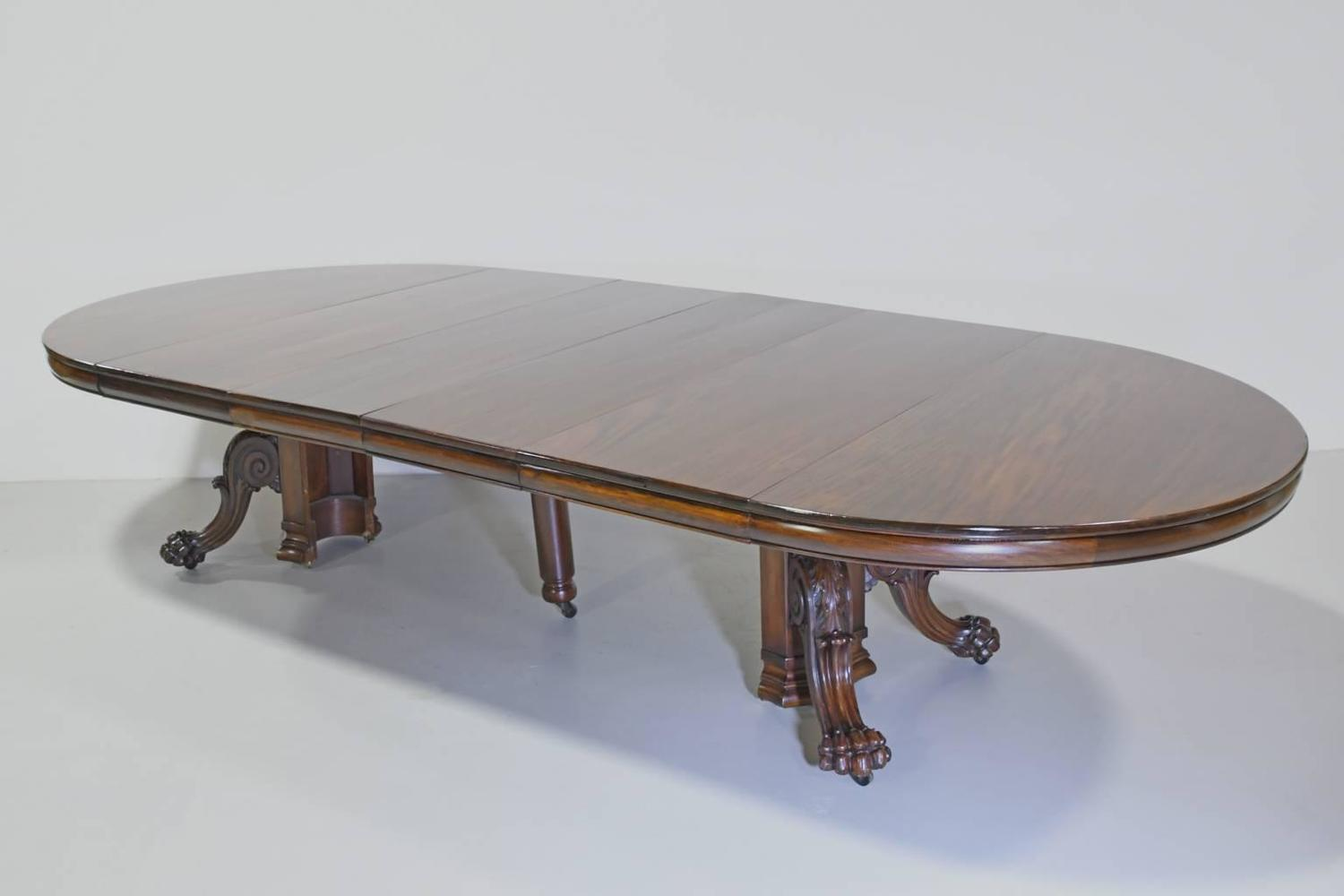 Round American Empire Center Pedestal Dining Table With