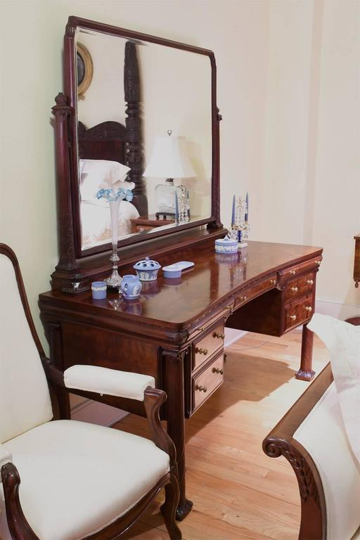 new york city mahogany belle poque vanity or dressing table circa 1890 at 1stdibs. Black Bedroom Furniture Sets. Home Design Ideas
