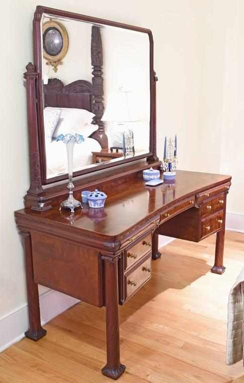 A Beautiful And Unique Belle Époque Dressing Table In Mahogany From The American Golden Age