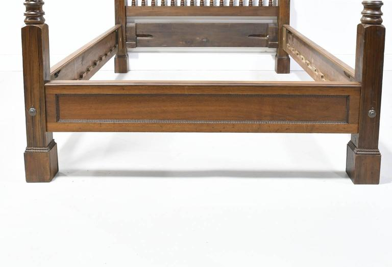 19th century queen size british colonial style american for American furniture bed frames