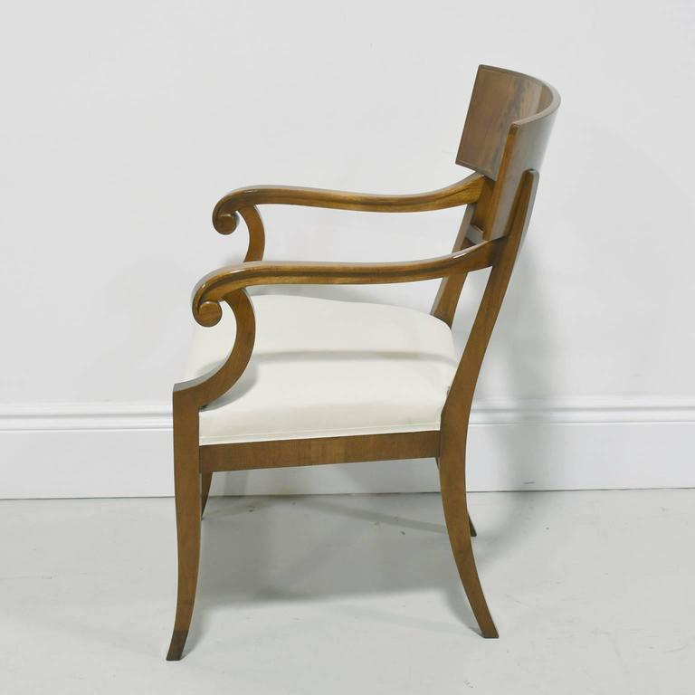 Pair of Karl Johan Style Swedish Empire Klismo Chairs in Cuban Mahogany In Good Condition For Sale In Miami, FL