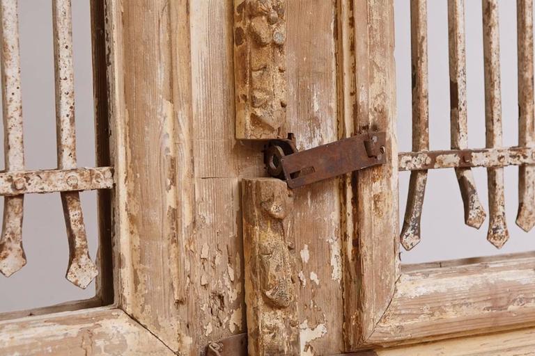 Distressed French Belle Epoque Wooden Doors in Original Paint, circa 1880 2