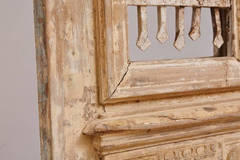 Distressed French Belle Epoque Wooden Doors in Original Paint, circa 1880 3