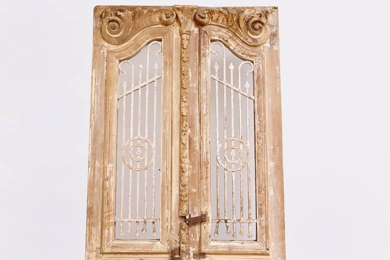Distressed French Belle Epoque Wooden Doors in Original Paint, circa 1880 8