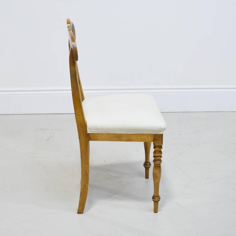 19th Century Set of Six Karl Johan Dining Chairs in Birch with Upholstered Seats For Sale 3