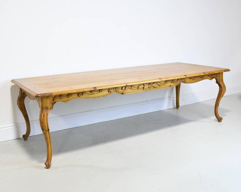Custom made french provincial farm table from repurposed for Repurposed dining table