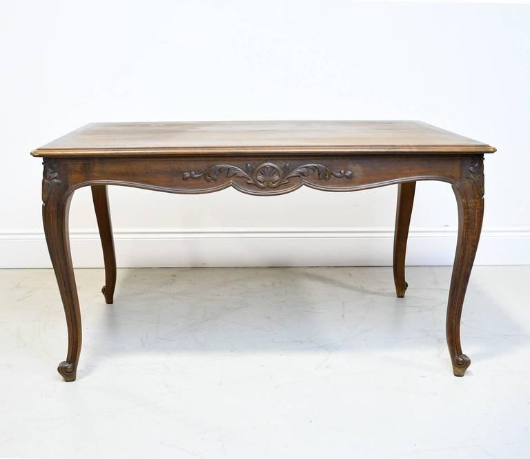 This French Louis Xv Style Dining Table Has Drawer Pull Outs That Support Two Extension