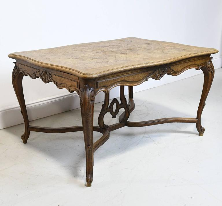 This Especially Beautiful French Provincial Dining Table In The Style Of Louis XV Is Oak