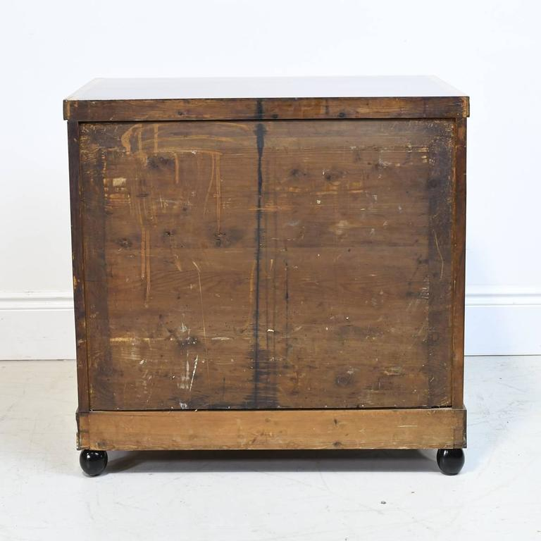 19th Century Biedermeier Chest of Drawers in Mahogany with Marquetry Inlays For Sale 1