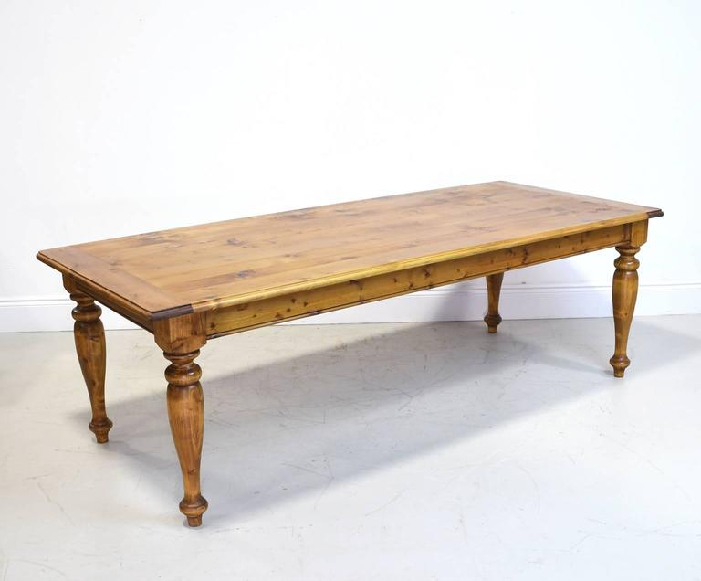 Wondrous 8 Long European Country Farmhouse Dining Or Kitchen Table In Pine Circa 1990S Interior Design Ideas Gentotryabchikinfo