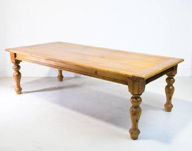 9 European Style Farmhouse Table In Pine With Massive