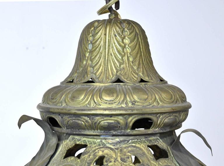 Gesso Pair of Late 19th Century Baroque-Style Venetian Gondola Lanterns For Sale