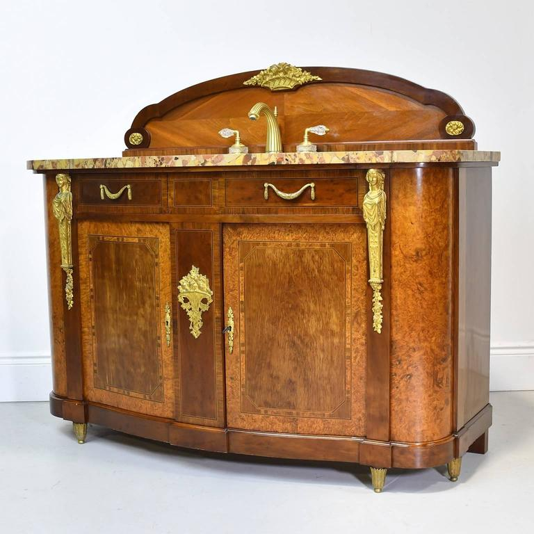 Pair of antique french empire style bathroom vanities with - Antique bathroom vanities for sale ...