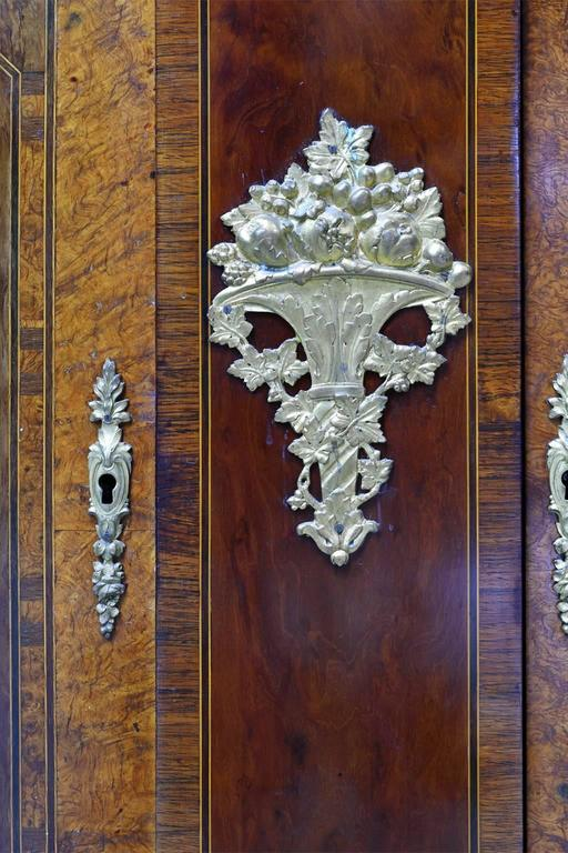 Pair Of Antique French Empire Style Bathroom Vanities With