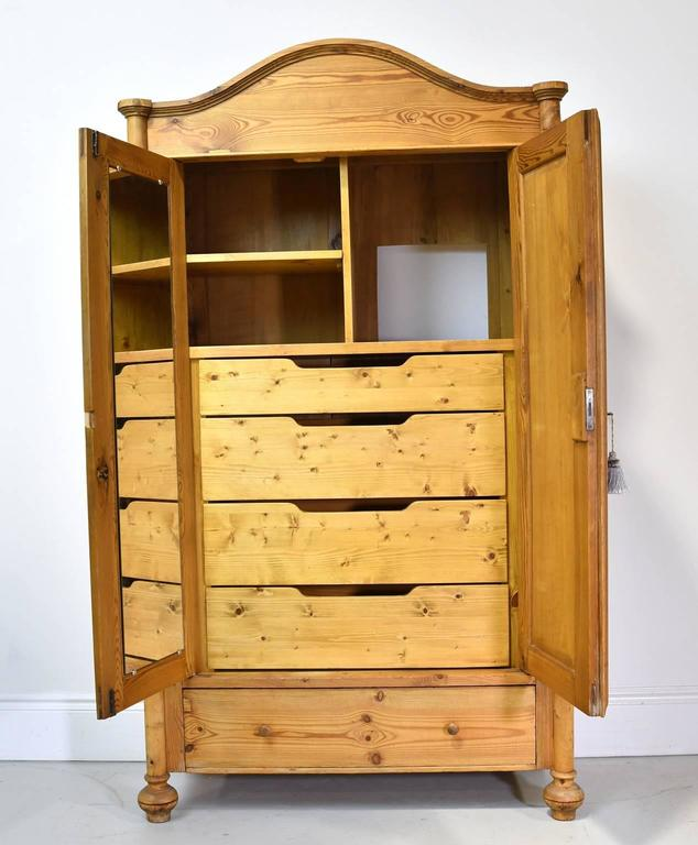 19th century louis philippe pine armoire outfitted with. Black Bedroom Furniture Sets. Home Design Ideas