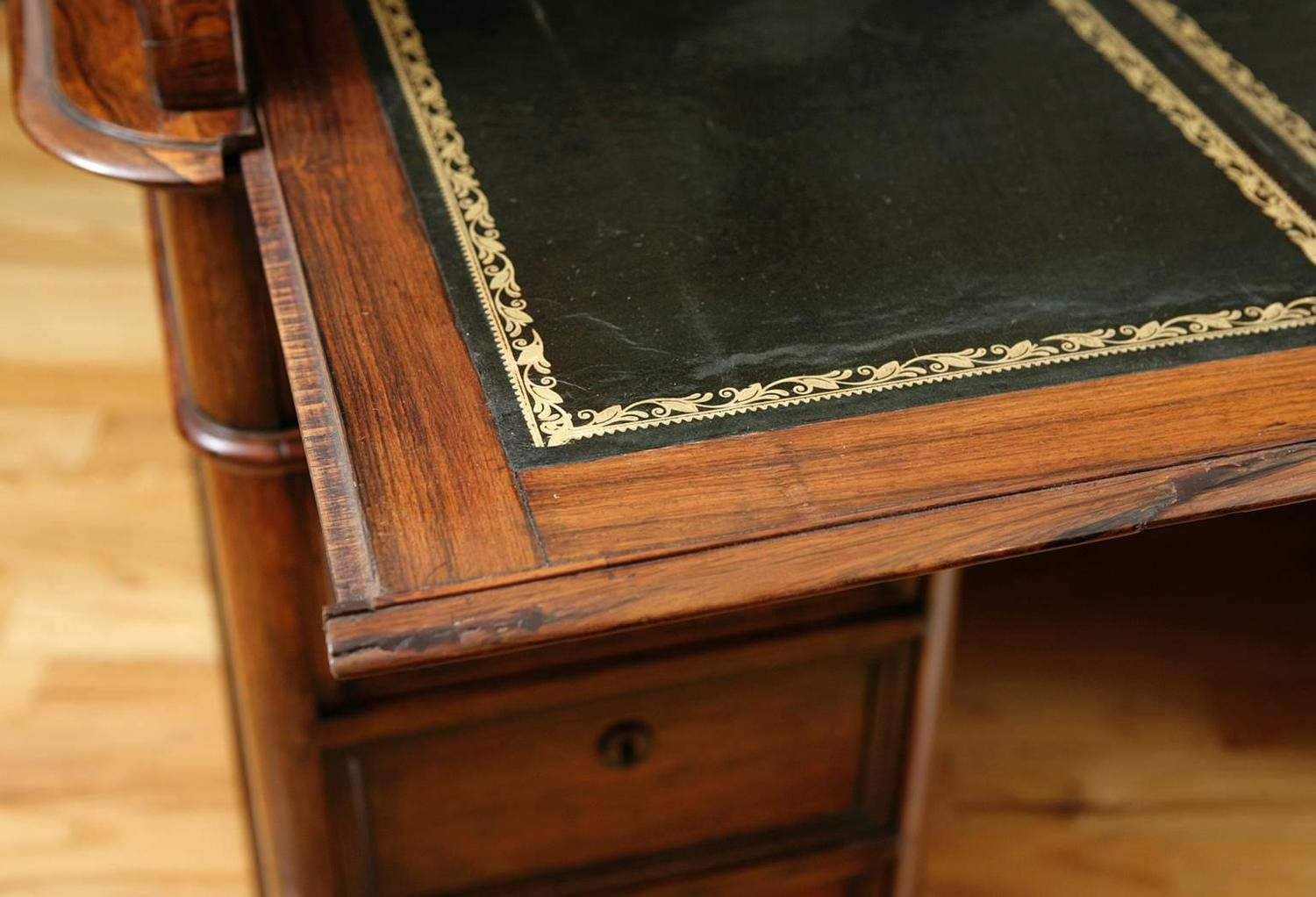 French Napoleon Iii Tambour Roll Top Desk In Rosewood