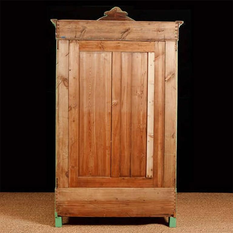 Painted Pine Armoire, Northern Germany or Denmark, circa 1850 For Sale 1