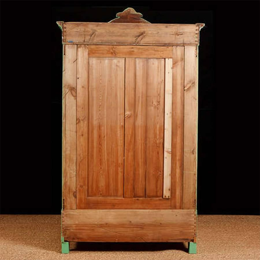 painted pine armoire northern germany or denmark circa. Black Bedroom Furniture Sets. Home Design Ideas
