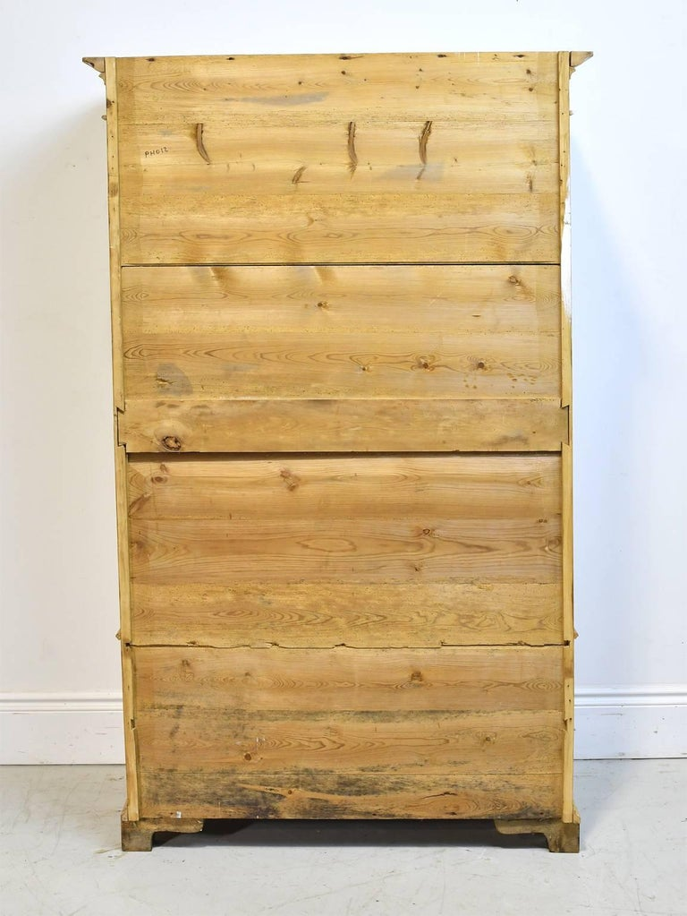 Hand-Crafted Pine Armoire w/ Single Door & Two Drawers, Denmark, c. 1835 For Sale