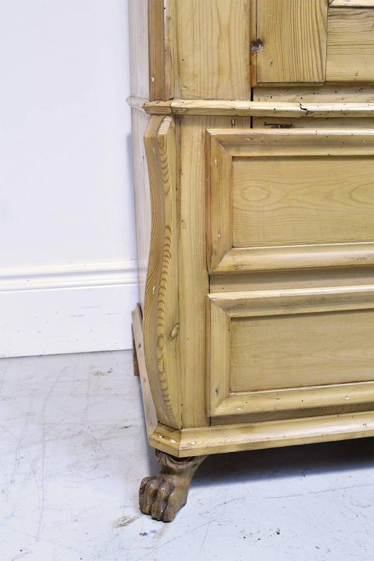 Pine Armoire w/ Single Door & Two Drawers, Denmark, c. 1835 For Sale 2