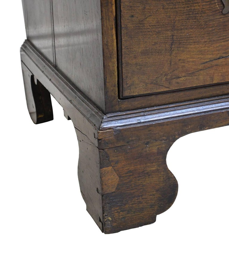 18th Century English George III Chest on Chest in Oak with Pull Out Secretary For Sale 2