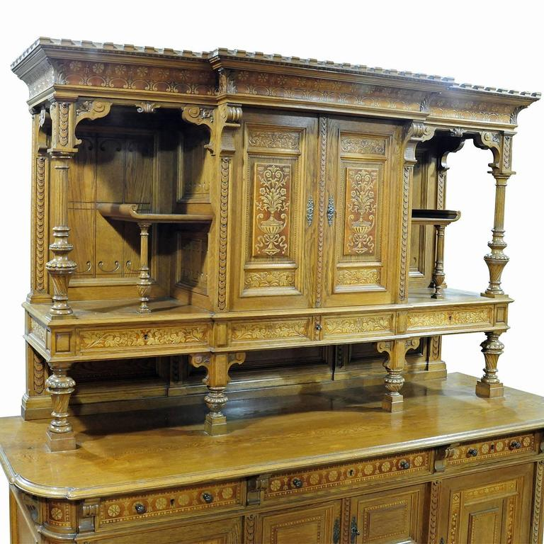 Austrian Large Sideboard by Bernhard Ludwig, Vienna, circa 1900 For Sale
