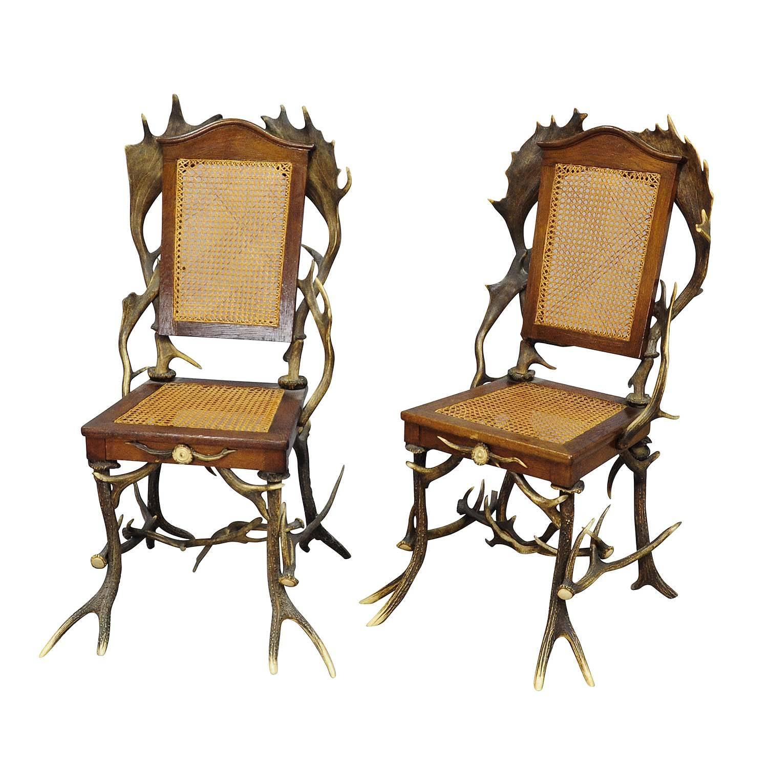Pair Antique Rustic Cabin Chairs Circa 1900 For Sale At 1stdibs