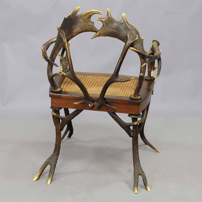 Antique Rustic Cabin Antler Armchair For Sale At 1stdibs