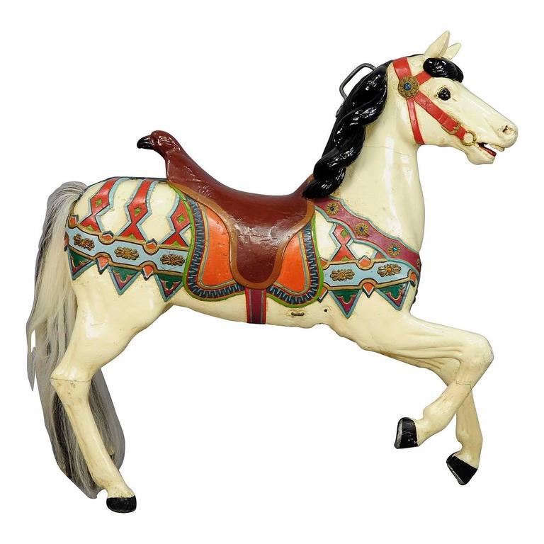 Rare Antique Carousel Horse By Friedrich Heyn Circa 1910