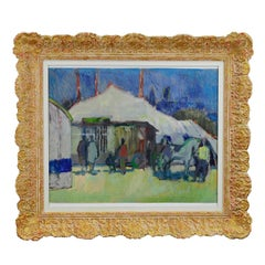 Unknown, Impressionistic Watercolor Painting of a Circus Scenery