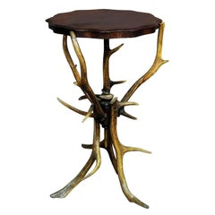 Nice Rustic Antler Side Table, circa 1900