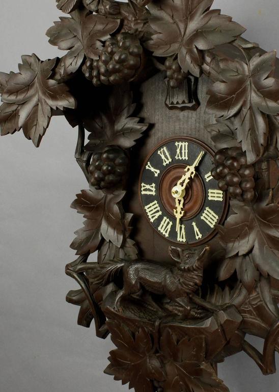 Antique Black Forest Carved Wood Cuckoo Clock At 1stdibs